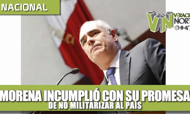 Morena incumplió con su promesa de no militarizar al país: Julen Rementería