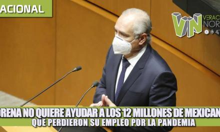 Morena no quiere ayudar a los 12 millones de mexicanos que perdieron su empleo por la pandemia