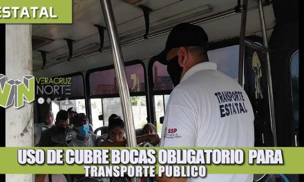 USO DE CUBRE BOCAS OBLIGATORIO PARA EL TRANSPORTE PÚBLICO.