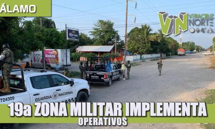19a Zona Militar implementa Operativos