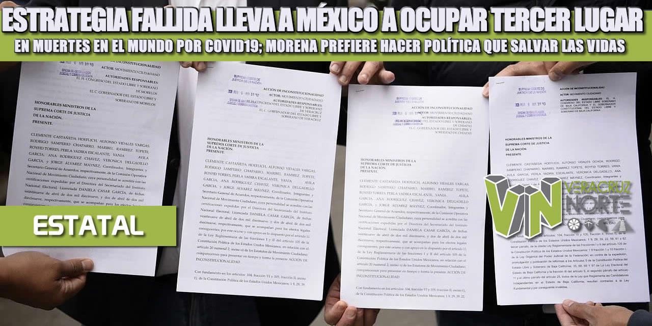 ESTRATEGIA FALLIDA LLEVA A MÉXICO A OCUPAR TERCER LUGAR EN MUERTES EN EL MUNDO POR COVID19; MORENA PREFIERE HACER POLÍTICA QUE SALVAR LAS VIDAS