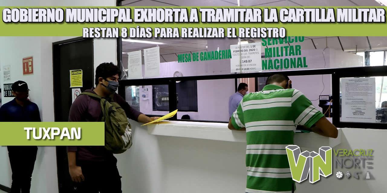 GOBIERNO MUNICIPAL EXHORTA A TRAMITAR LA CARTILLA MILITAR; RESTAN 8 DÍAS PARA REALIZAR EL REGISTRO
