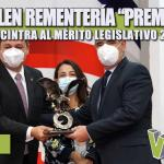 "RECIBE JULEN REMENTERÍA ""PREMIO ÁGUILA CANACINTRA AL MÉRITO LEGISLATIVO 2020"""