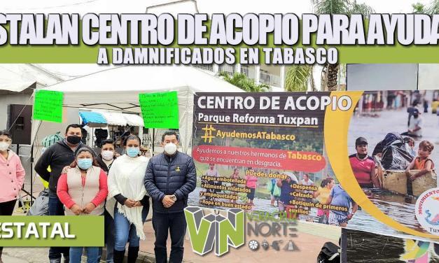 ANTORCHISTAS VERACRUZANOS INSTALAN CENTRO DE ACOPIO PARA AYUDAR A DAMNIFICADOS EN TABASCO