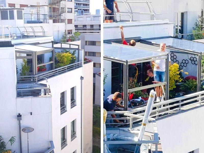 abri de terrasse sur les toits de paris