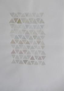 Aquarelverf op papier, zeshoek 23