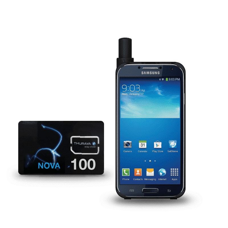 Pack Inmarsat Thuraya SatSleeve+ with SIM card and units