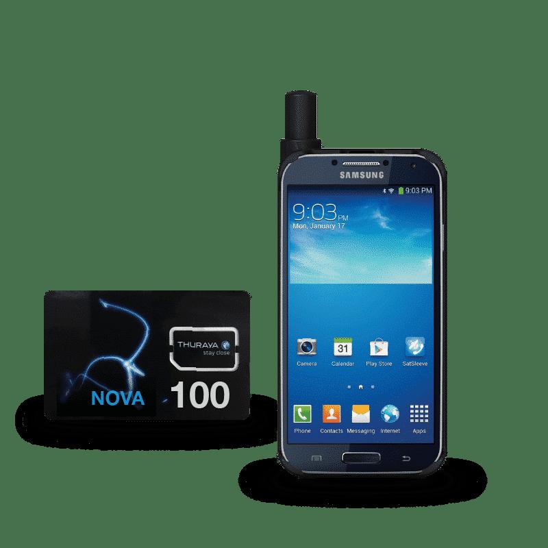 Pack Thuraya SatSleeve+ con tarjeta SIM prepago Nova