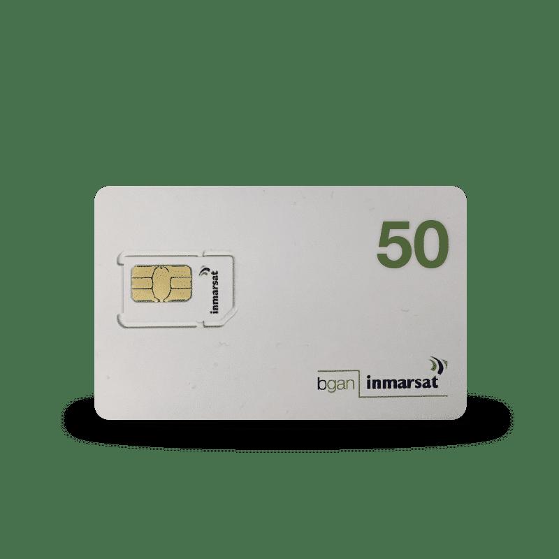 Cartes SIM prépayées Inmarsat BGAN
