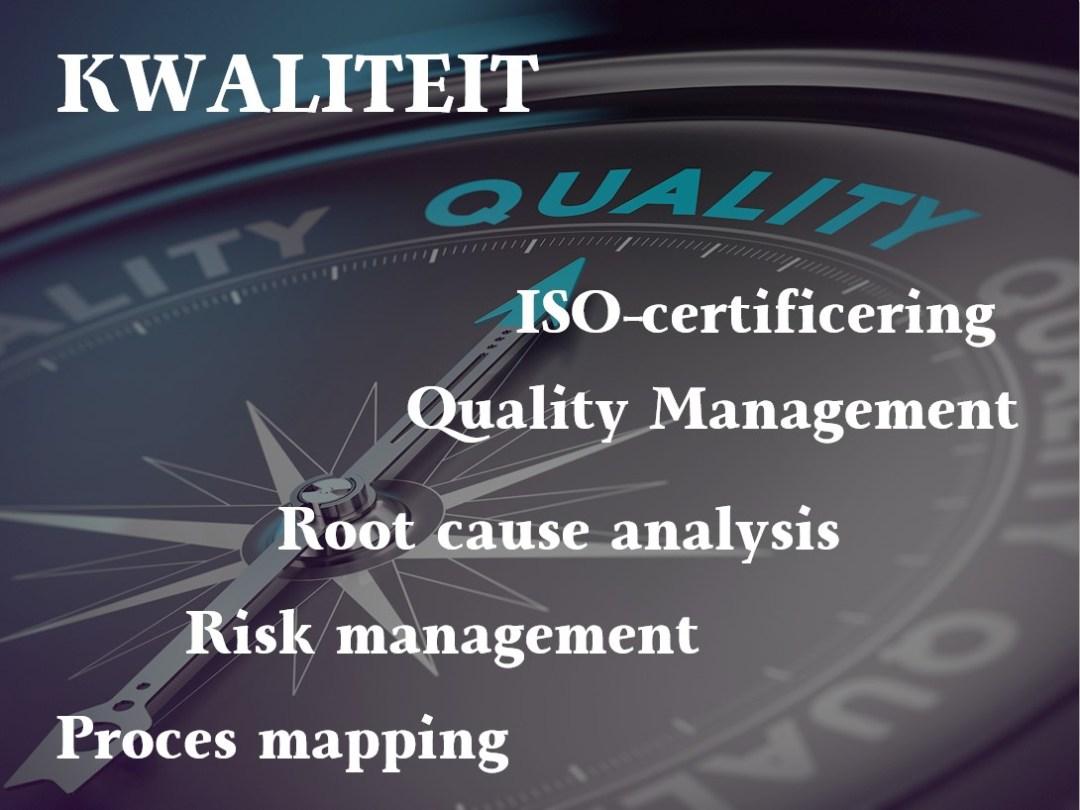Verbeterdezaak kwaliteit verbetering proces mapping risk management route cause analysis quality management ISO9001 certificering Kwaliteit hoort altijd ergens bij