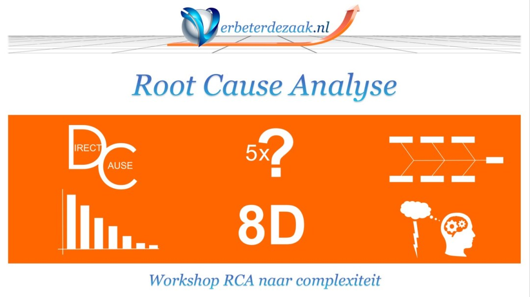 Verbeterdezaak.nl root cause analysis Direct cause Pareto 5 time why 5xwhy 8D analyse analysis fish bone fishbone brainstorm visgraat analyse ISO19001 continu verbeteren Non-conformance afwijking non-conformiteit
