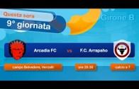 Vercelli Fubles Cup 15 – Arcadia FC vs F.C. Arrapaho – 9° giornata – Girone B
