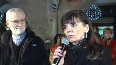 Vercelli: gli auguri di Natale in piazza Cavour