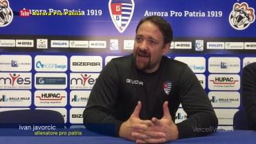 Javorcic, allenatore Pro Patria prima della sfida con la Pro Vercelli