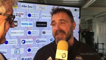 Pro Vercelli – Pisa 1-2: Luca D'Angelo, allenatore Pisa