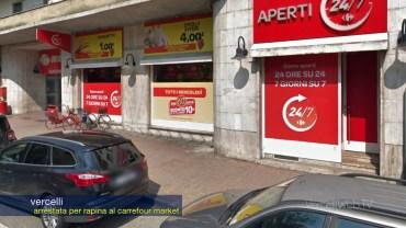 Vercelli: arrestata per rapina al Carrefour Market