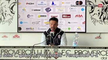 Calcio serie C girone A: Pro Vercelli – FeralpiSalò 0-2 (interviste)