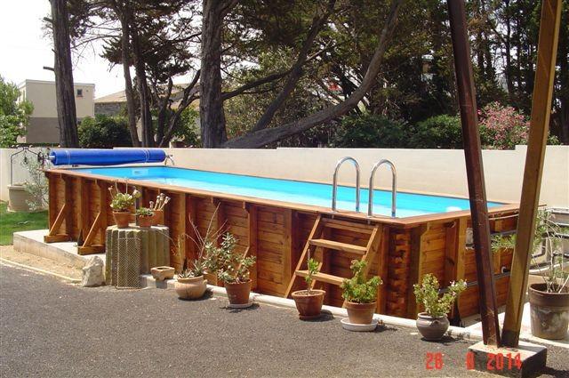 Couloir de nage en bois vercors piscine for Salon 3m de large