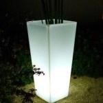 Pot e fleur avec LED