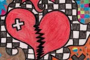 Metade de um coração partido + Metade de um coração flexível