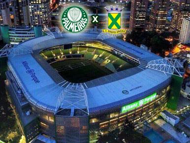 Pré-jogo Palmeiras x Santo André