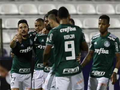 Comemoração em Lima, pela Libertadores