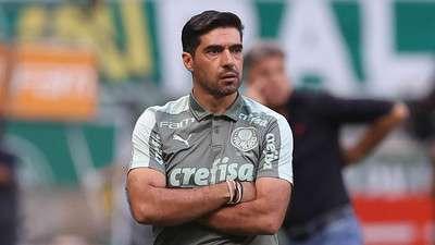 Abel Ferreira durante partida do Palmeiras contra o Flamengo.