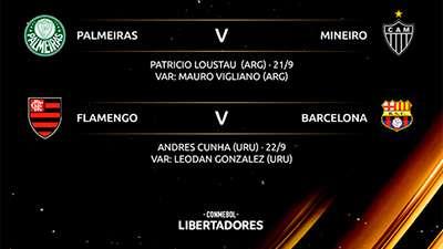 Arbitragem das primeiras partidas das semi-finais da Libertadores 2021.