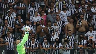 Weverton durante segunda partida do Palmeiras contra o Atlético-MG, válida pelas semifinais da Libertadores 2021, no Mineirão.