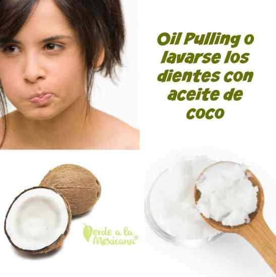 como lavarse los dientes con aceite de coco