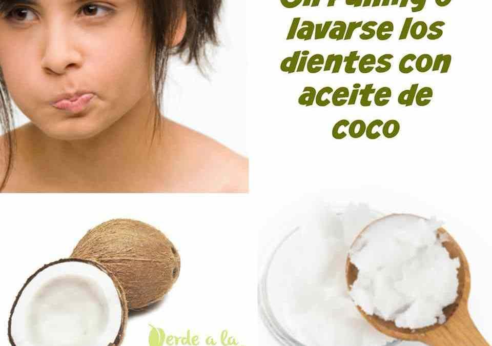 Cómo lavarse los dientes con aceite de coco