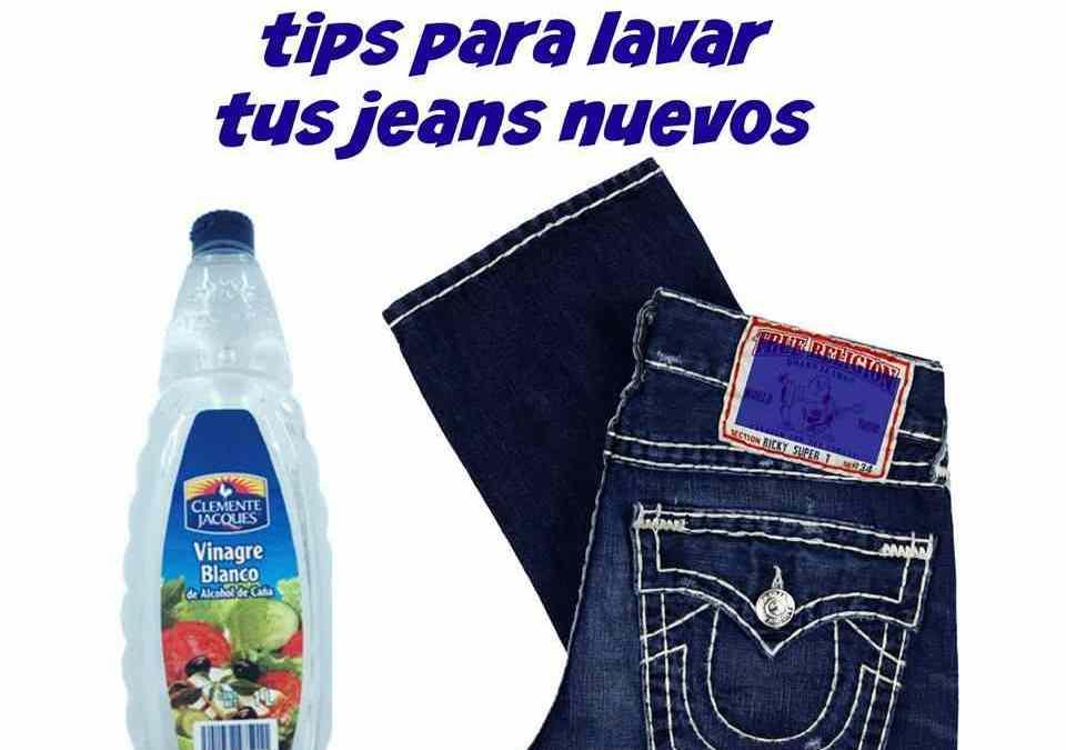 Cómo lavar tus jeans nuevos