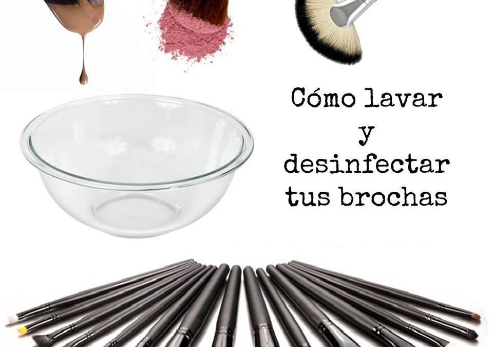 Cómo lavar y desinfectar tus brochas