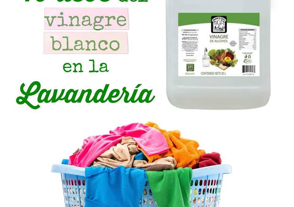 10 usos del vinagre blanco en la lavandería
