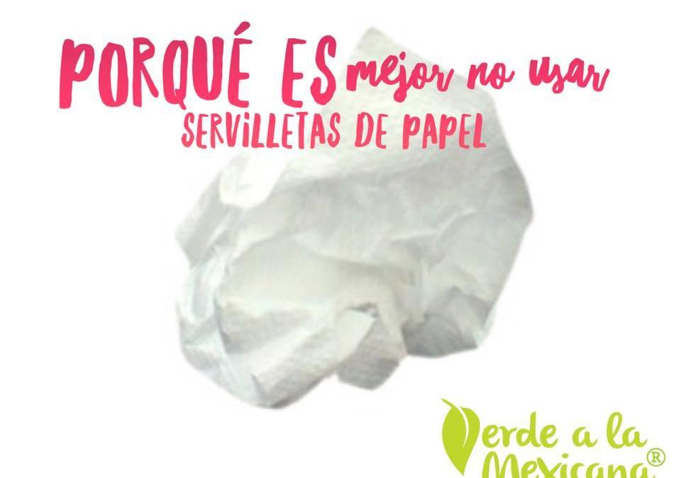 ¿Y si dejamos de usar servilletas de papel?