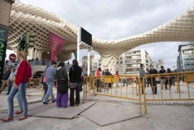 Metropol Parasol en construcción
