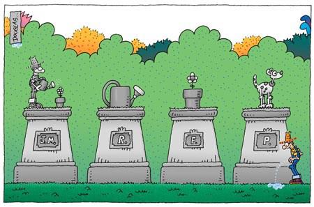 Humor y jardinería - El Jardinero Mágico piensa que todas las especies deben tener su estatua propia.
