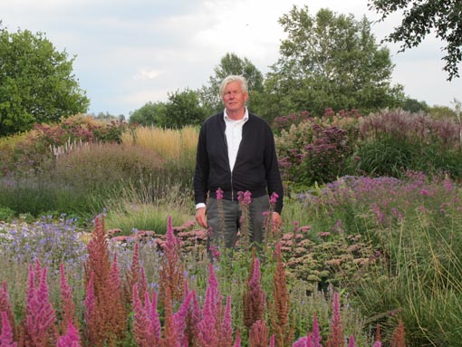 Piet Outdolf en uno de sus jardines