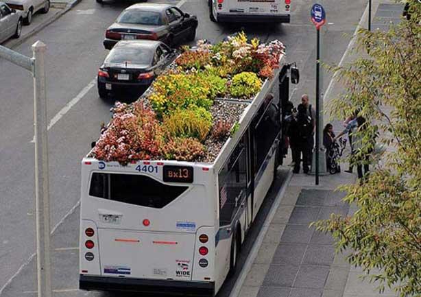 Cubierta en autobús