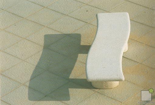 Banco Piedra artificial, perspectiva Expo92
