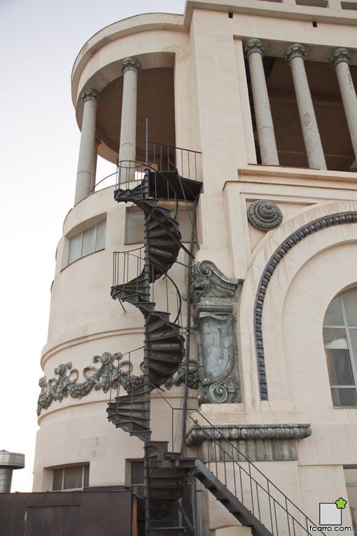 Escalera de la terraza del Circulo de BBAA