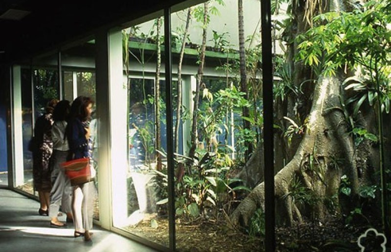 paisajismo de Expo92: Burbuja Pabellón Naturaleza Expo 92