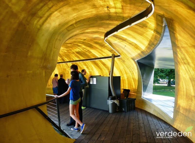 Serpentine gallery pavilion 2014 café interior
