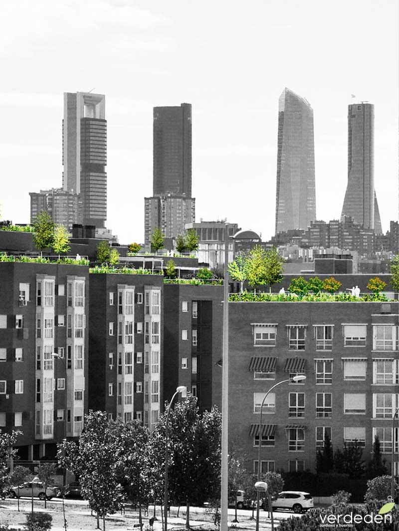Madrid:Gran vía verde:Jardines en balcones y terrazas