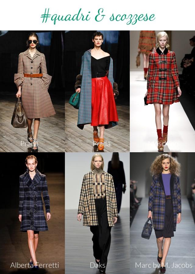 tendenze autunno inverno 2013 2014: cappotti a quadretti e in tartan