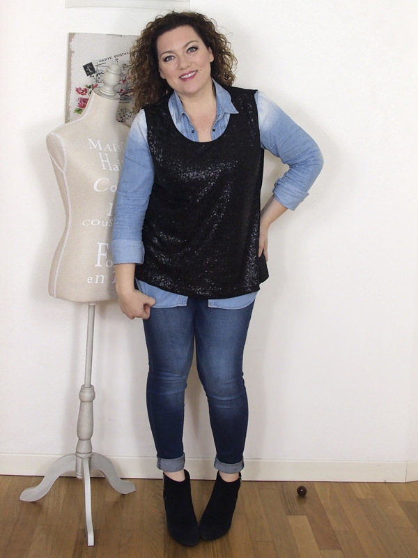 VerdementaBlog casual outfit curvy top paillettes Fiorella Rubino- curvyblogger -3