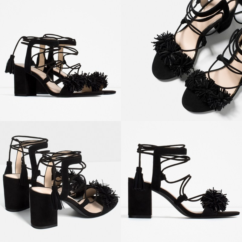 sandali nappine Zara - aquazzurra inspired