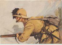 i bersaglieri cartolina fuciliere
