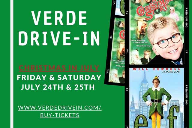 Verde Valley Christmas Events 2020 The Verde Drive In Presents: Christmas in July   Verde Valley Events