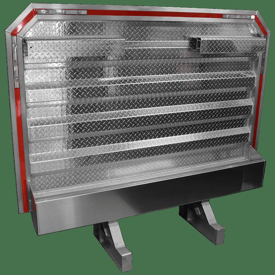 verduyn vault checkerplate headache rack with chain racks tray